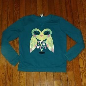 Girls Cute Owl Sweatshirt - 14/16